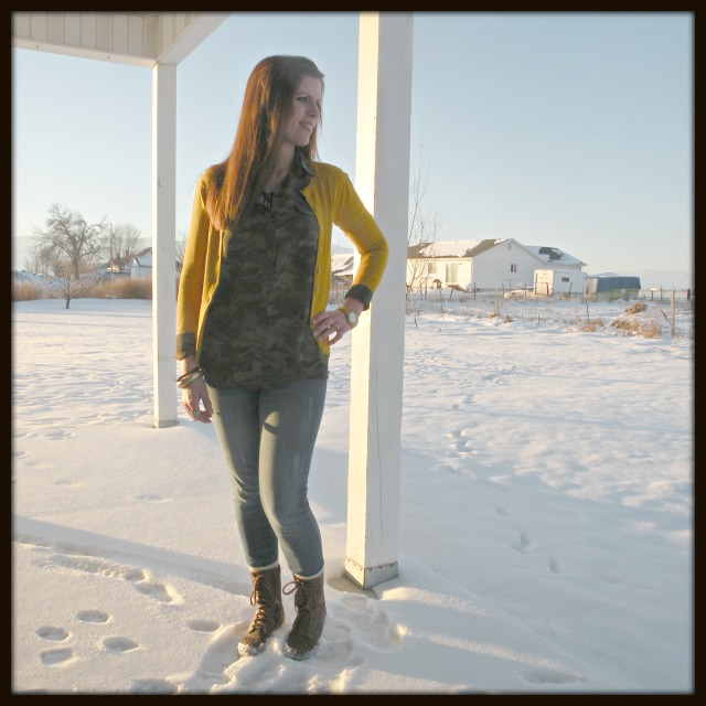 Camo,Mustard Yellow and Boots