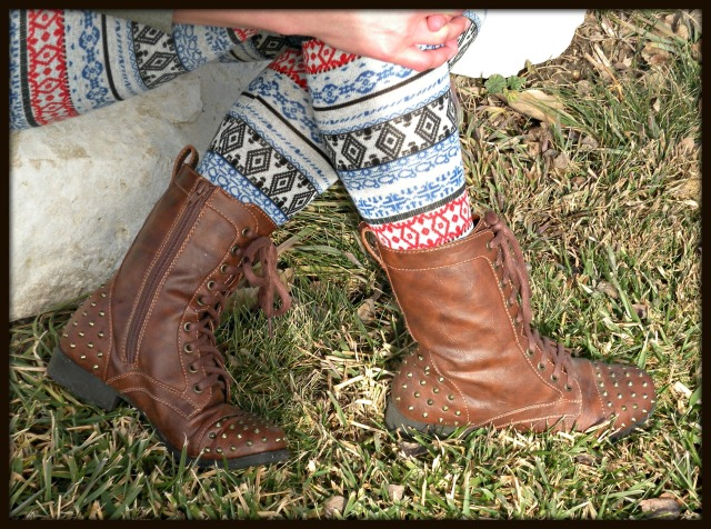 Spiked Combat Boots