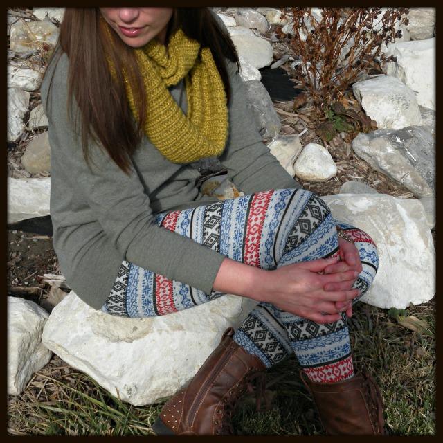 Sweater with Print Leggins