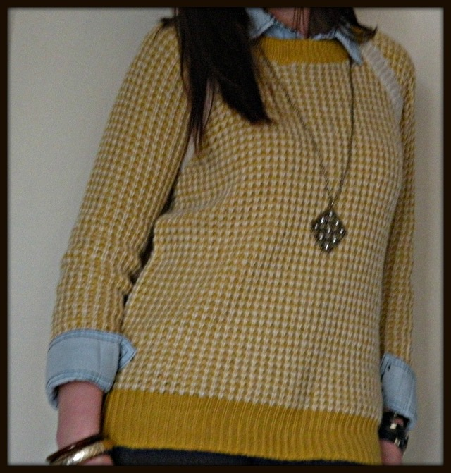 Yellow Sweater and Chambray
