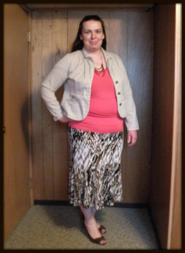 Kahki Jacket and Skirt