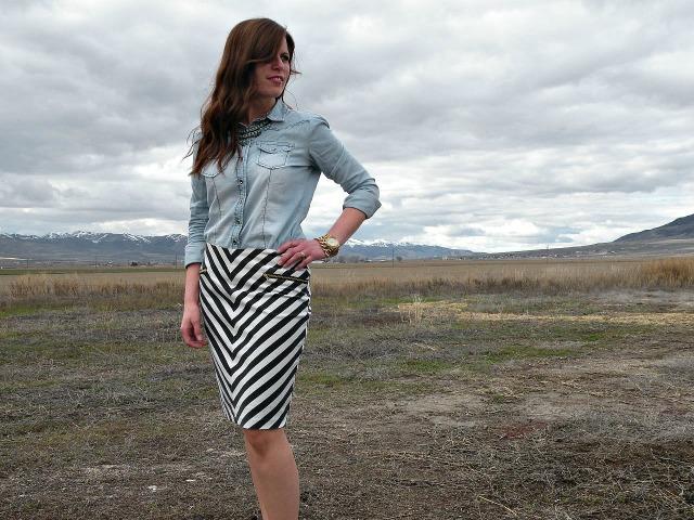 High Contrast Skirt 2