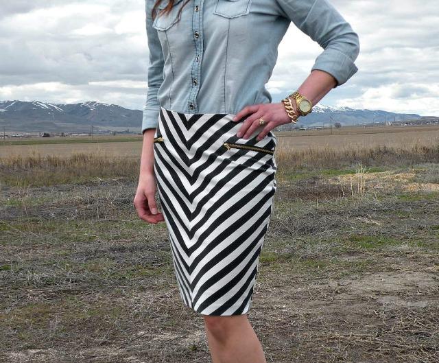 High Contrast Skirt 5