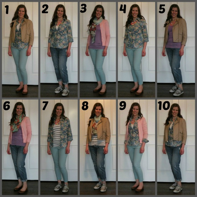 Spring Outfits Numbered 1-10