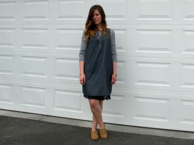 Chambray Shift Dress 2