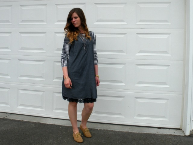 Chambray Shift Dress 5