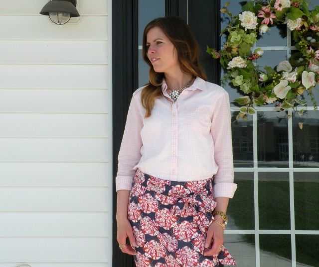 Pink Gingham and Florals 3