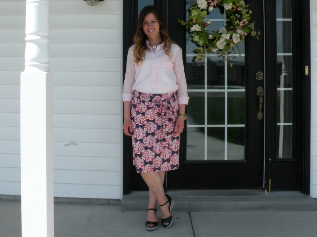 Pink Gingham and Florals 4