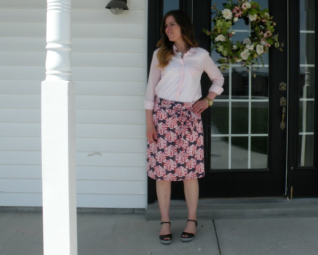 Pink Gingham and Florals 5