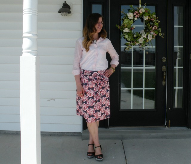 Pink Gingham and Florals
