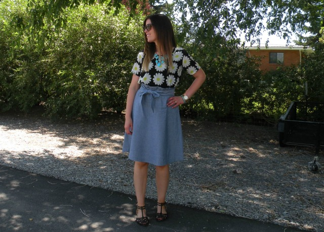 Florals and chambray 2