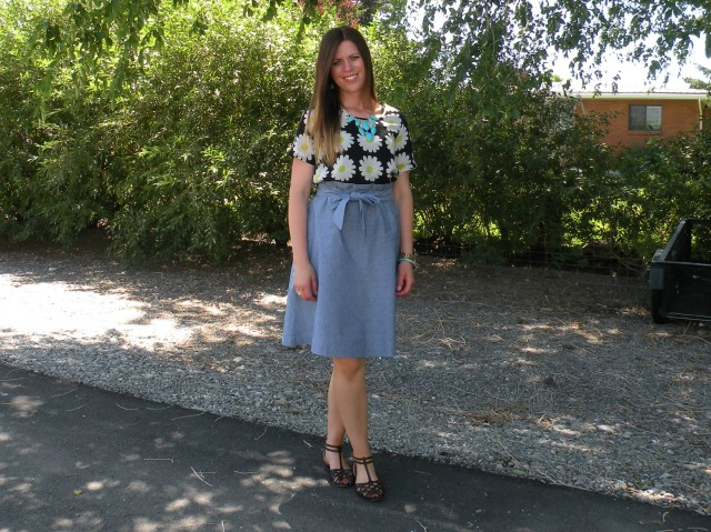Florals and Chambray 4