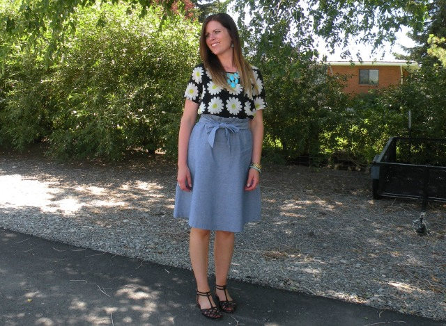 Florals and Chambray 5